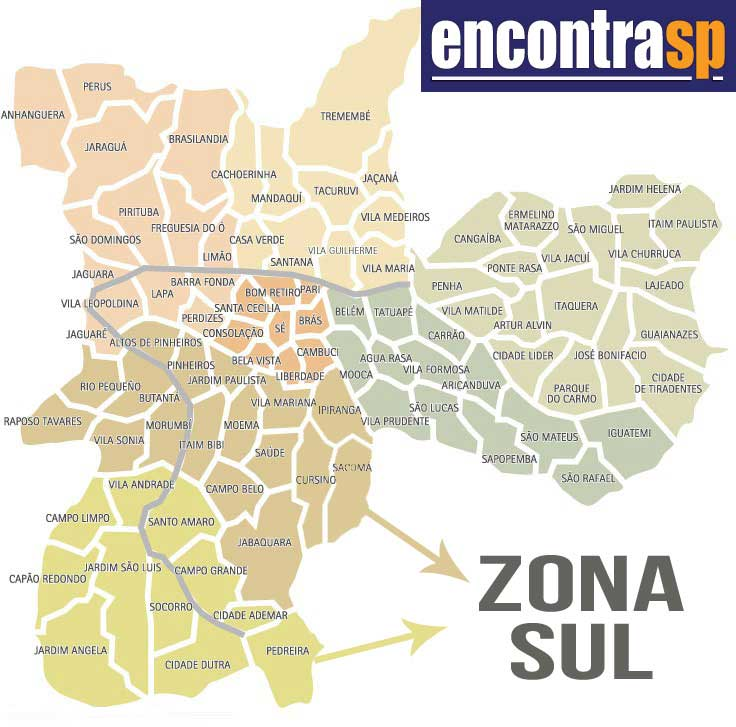 Aparador De Ferro Com Vidro ~ Mapa da Zona Sul de S u00e3o Paulo, SP Encontra S u00e3o Paulo